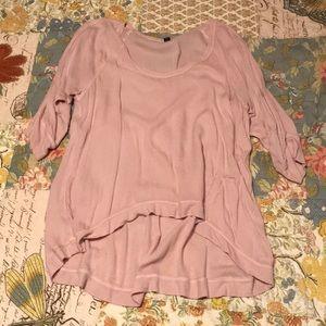 Cute pink flowy top